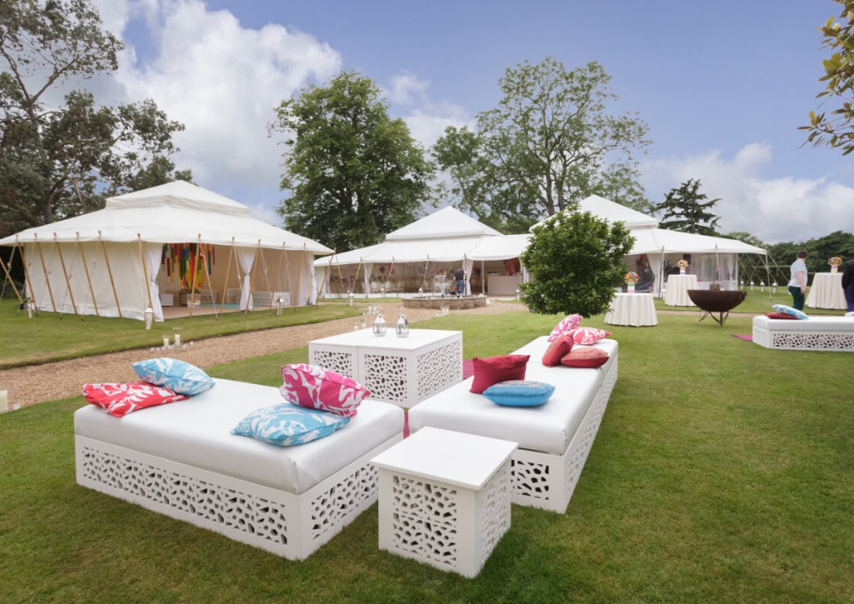 Outdoor marquee tent decor chairs
