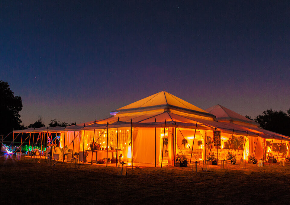 The Pearl Tent Company - Tent by night