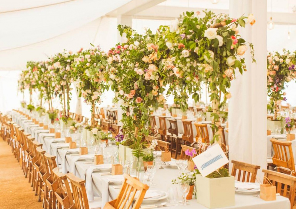 Wedding Floral Tent Decor