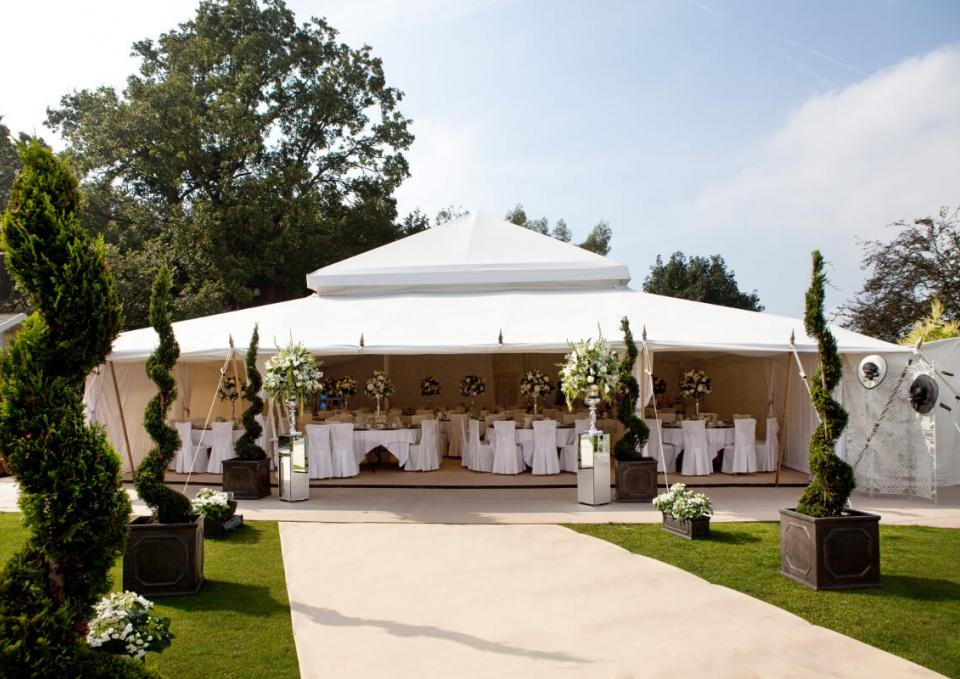 Wedding marquee and tent
